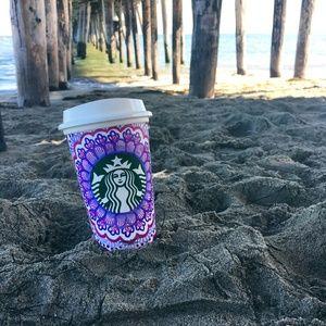 Purple and Pink Starbucks Reusable Cup